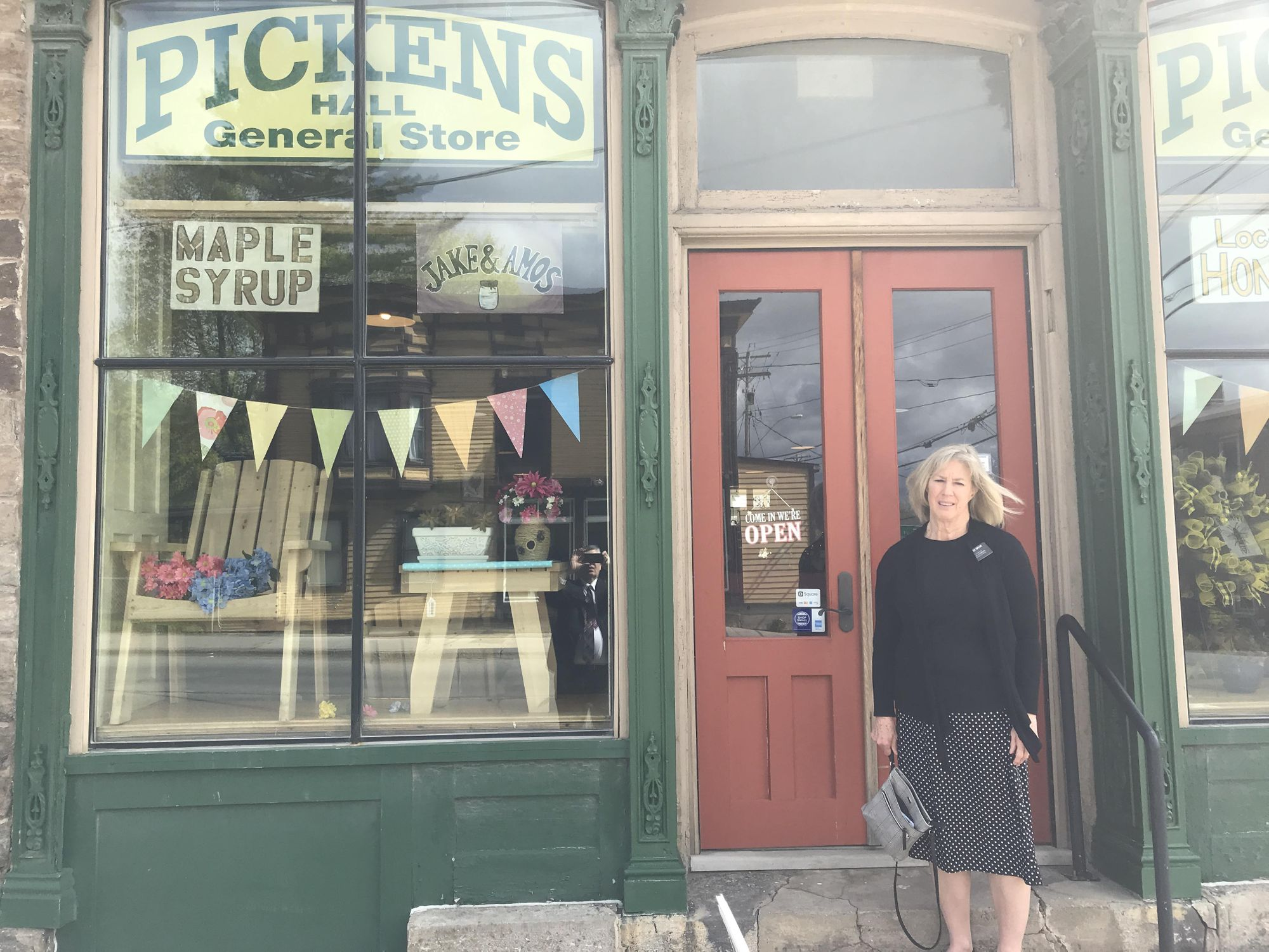30eb50c6 Karen at Pickens General Store in Heuvelton, NY which sells Amish products  like quilts, jams, straw hats, homemade toys, furniture and many other  crafted ...